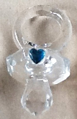 Blue Heart Pacifier