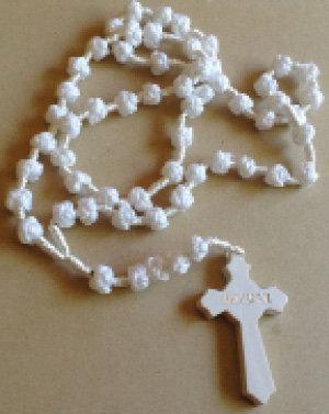 White Silk Cord Rosary