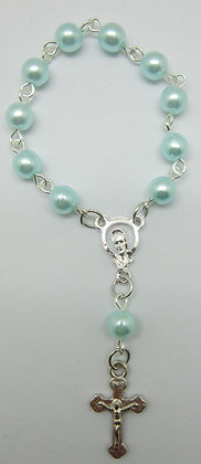Bracelet with Blue Beads and Mary