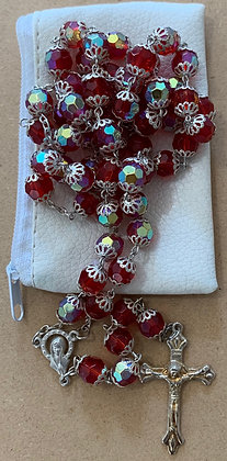 Rosary Glass Bead Red