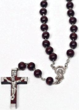 Dark Brown Wooden beads Rosary