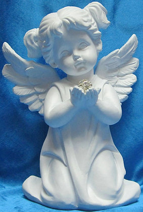 Angel large praying with crystal ball 2PCs. [18104]