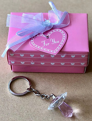 Pink Crystal Nipple Key Chain