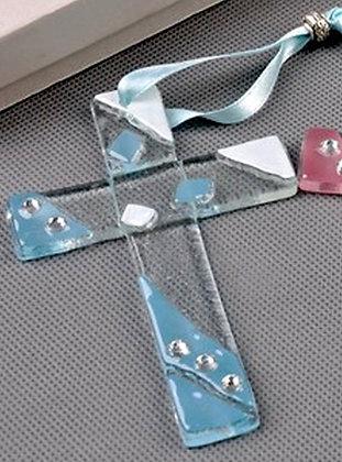 Hanging Cross Murano Glass