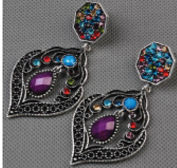 Ear rings multi color stones