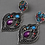 Thumbnail: Ear rings multi color stones