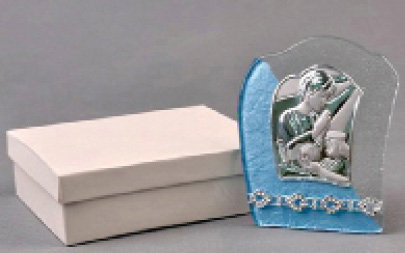 Communion Plaque Murano glass blue [19101]