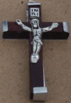 Crucifix Wooden Brown Medium [15118]