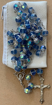 Rosay bue glass beads