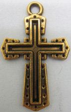 Cross Metal Gold Color [54002]