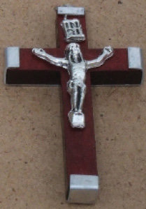 Crucifix wooden Brown Small [15121]
