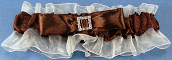 Single Garter with colored ribbon