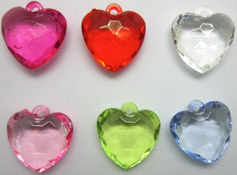 Heart Acrylic in 6 colors [54513-54547]