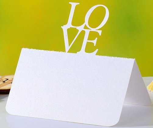 Table Name Card w/ Love Pack