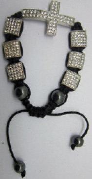 Shambola White and black pearl work