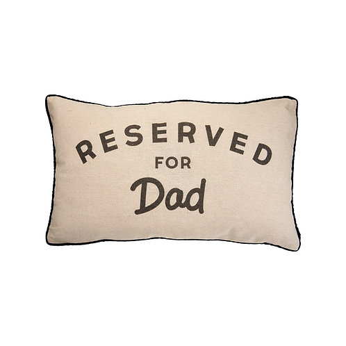 sass and belle reserved for dad cushion