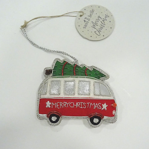 sass and bell campervan tree decoration