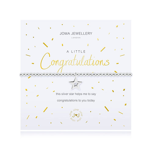 a little congratulations joma bracelet
