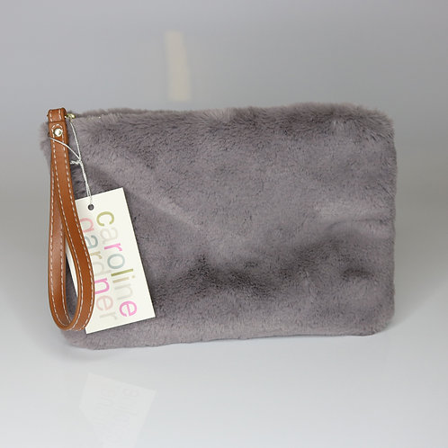 Caroline Gardner Faux Fur Clutch Bag