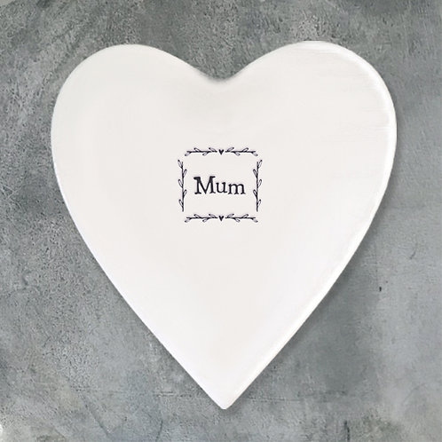 white porcelain coaster for mothers day gifting