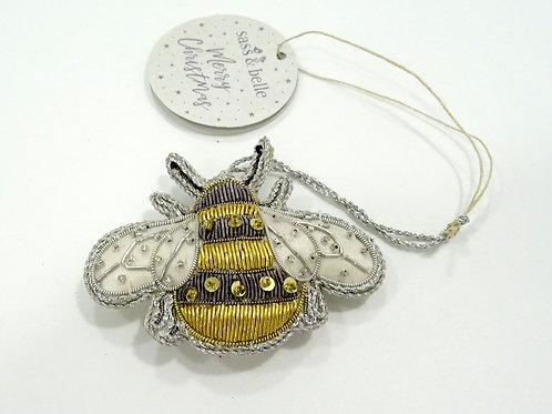 fabric bee xmas tree decoration