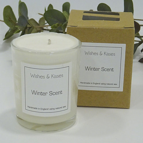 winter scent small candle by wishes and kisses