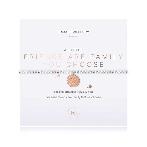 Friends are family you choose charm bracelet by Joma Jewellery