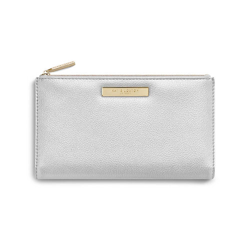 metallic silver purse by katie loxton