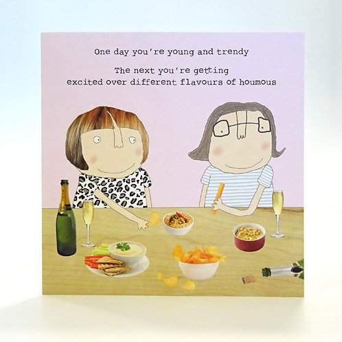 Houmous card by rosie