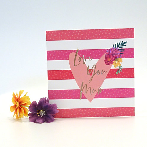 heart design mothers day card
