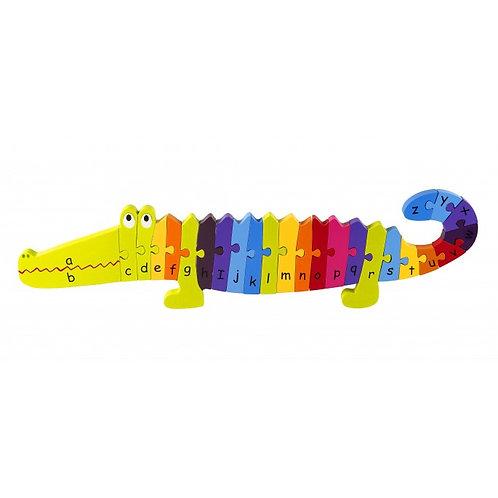 Crocodile Wooden Alphabet Puzzle