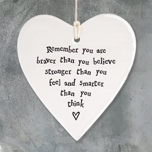 remember you are braver hanging heart by east of india