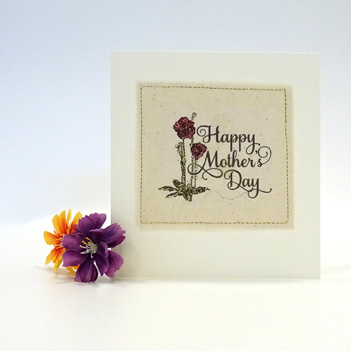fabric mothers day card