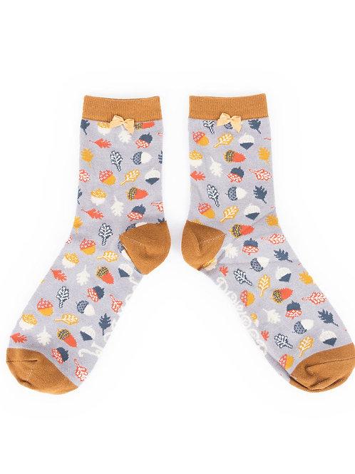 Powder Design Acorn Ankle Socks Slate