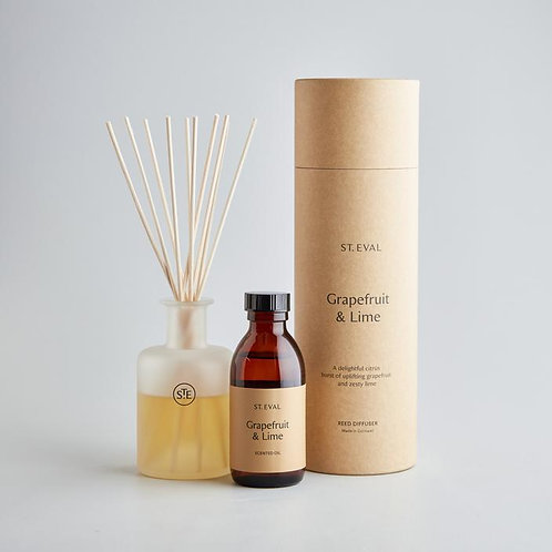 st eval grapefruit and lime reed diffuser gift