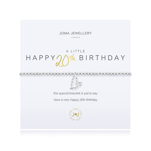 20th birthday bracelet by joma jewellery