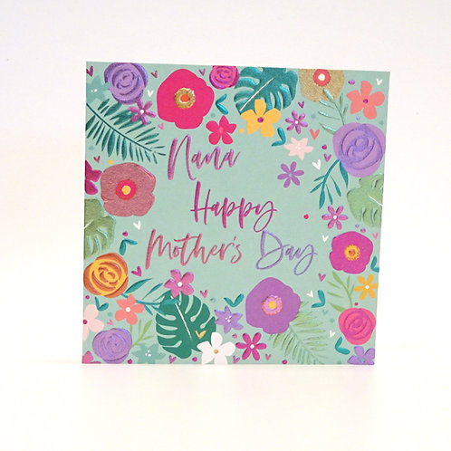 Nana's Mother's Day card by belly button design