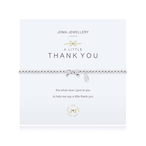 Thanks You charm bracelet by Joma Jewellery