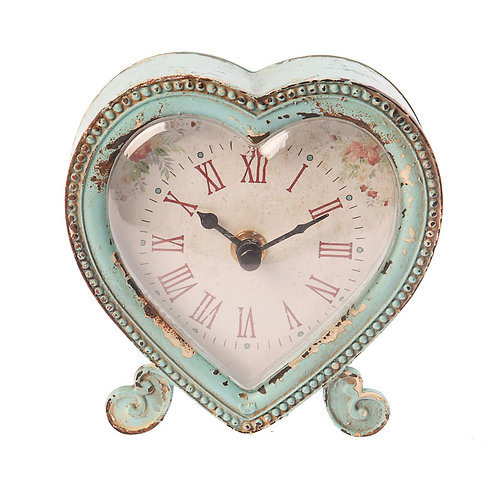 Sass and Belle Heart Shaped Clock