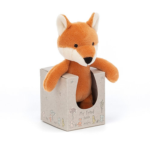 Soft baby rattle by jellycat