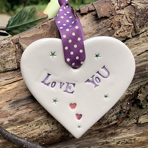 love you sentiment heart gift