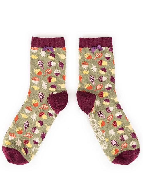 Powder Design Acorn Ankle Socks Moss
