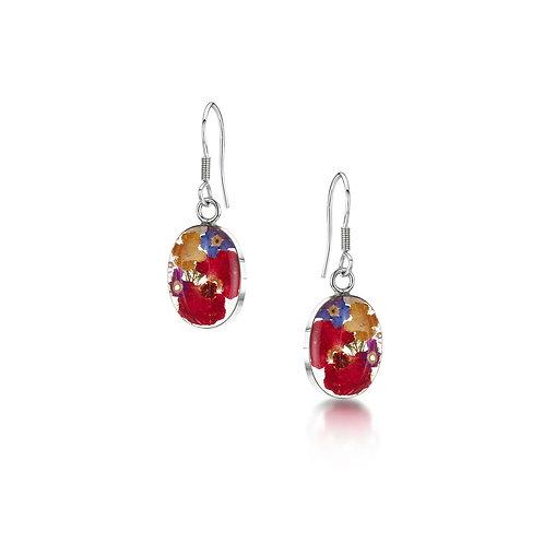 Shrieking Violet mixed flower earrings