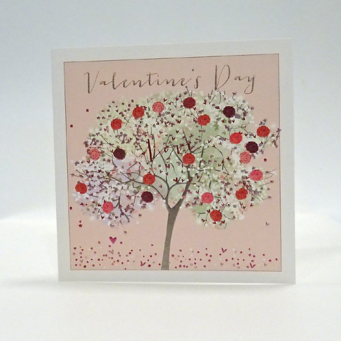 rose tree design valentines day card by belly button