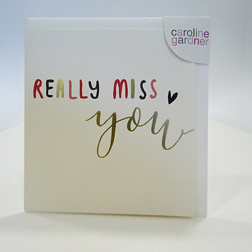 really miss you sentiment card