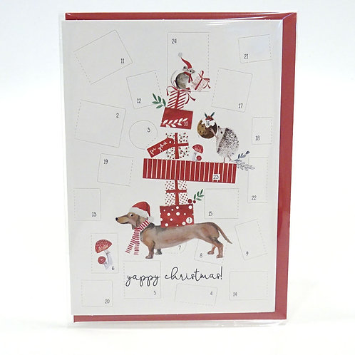 yappy xmas card advent card