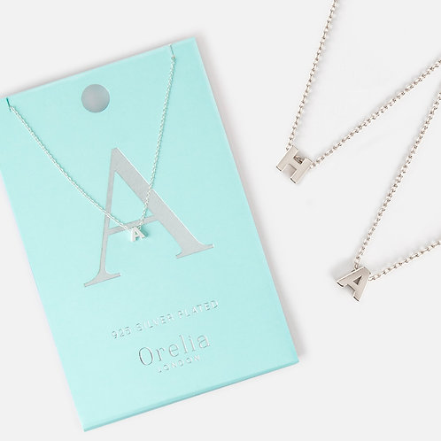 Orelia initial necklace in sliver