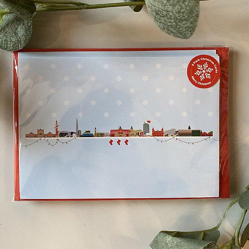 Birmingham Skyline Xmas cards