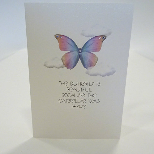 counting stars butterfly card