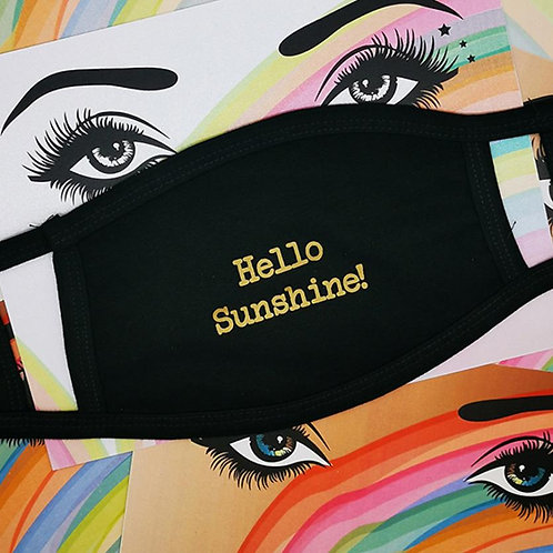 Hello sunshine facemask by counting stars